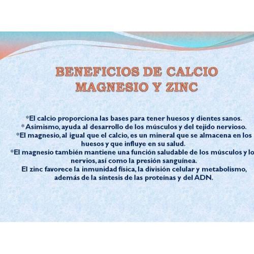 Calcium Magnesium Zinc x 100  Tabletas Good Natural