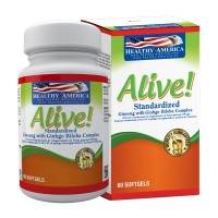 Alive x 60 Sofgetls (Panax Ginseng Extract Plus Ginkgo Biloba Extact)
