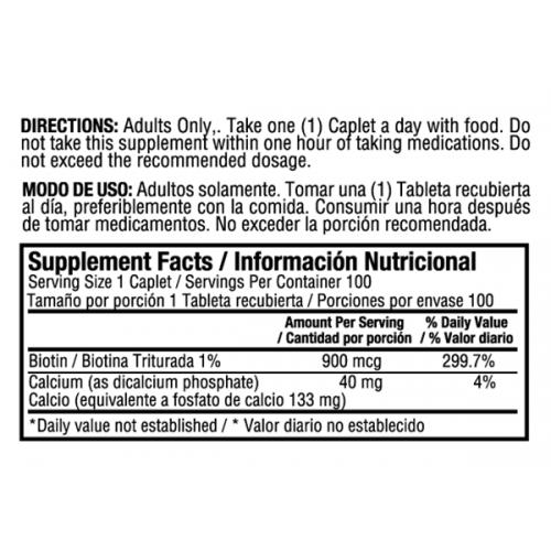 Biotin x 120 Sofgetls Healthy America