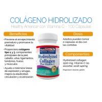Colágeno Hidrolizado 1500 mg con Vitamina C Healthy America