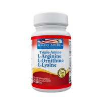 Triple Amino (L-Arginina, L-Ornitina, L-Lisina) Healthy America