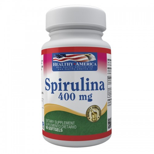 Spirulina 400 mg X 90 Softgels Healthy América