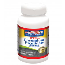 GTF Chromium Picolinate 500 Mcg x 100 Softgels