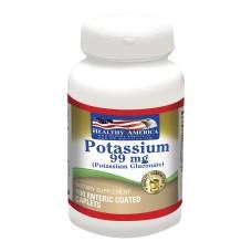 Chelated Potassium 99mg Healthy America x 100 Caplets