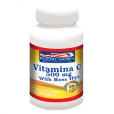 Vitamin C 500mg With Rose Hips x 100 Softgels